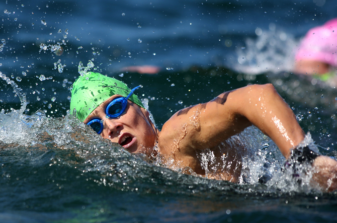 Taranaki swimmer Charlotte Webby comes ninth in both the 10km and the 5km race at the Australian Open Water Champs...